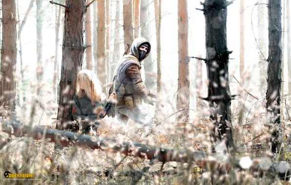 Картинка лес, девушка, засада, бродяга, Survarium, Vostok Games