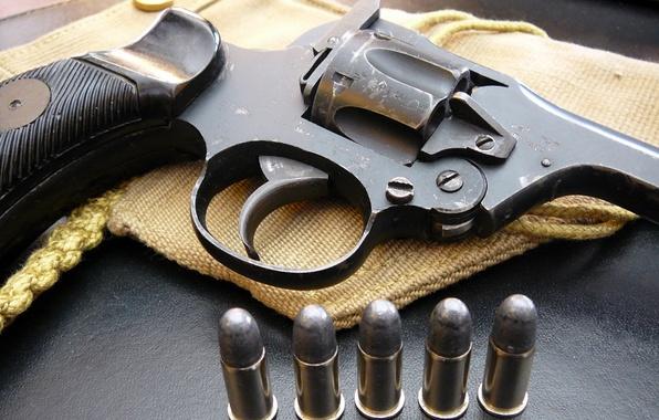 Картинка макро, пистолет, патроны