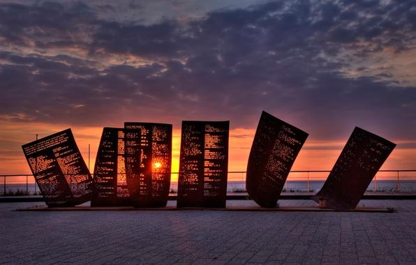 Картинка Netherlands, monument, Katwijk, lost fisherman