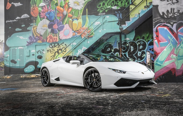 Фото обои LP 610-4, Huracan, Lamborghini, ламборгини, хуракан
