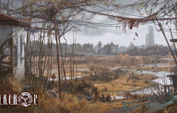Картинка чернобыль, припять, зона, украина, сталкер 2, Stalker 2, пустош
