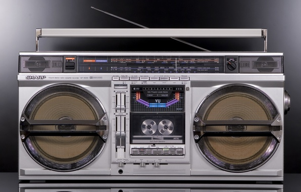 Картинка ретро, классика, магнитофон, Sharp, GF-9000