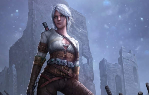 Картинка девушка, арт, The Witcher 3: Wild Hunt, Ведьмак 3: Дикая Охота, Cirilla Fiona Elen Riannon, …