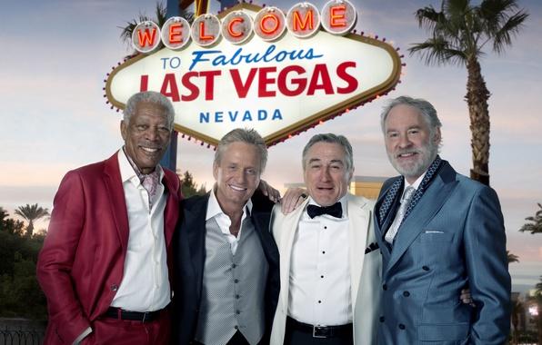 Картинка знаменитости, четверо, актеры, костюмы, Morgan Freeman, Морган Фриман, Robert De Niro, Роберт Де Ниро, Michael ...