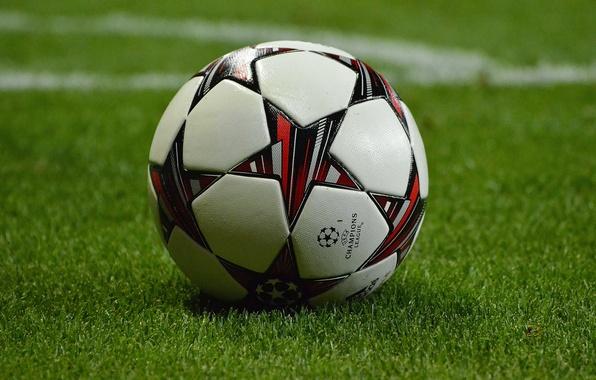 футбол 1 Wallpaper: Обои мяч, футбол Hd, газон, фокус картинки на рабочий стол
