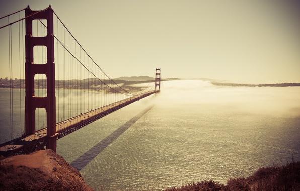 Картинка море, машина, авто, небо, вода, отражения, машины, туман, отражение, страны, города, океан, здание, здания, тень, …