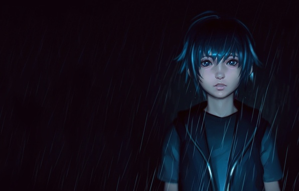 Картинка лицо, дождь, аниме, арт, парень, final fantasy, noctis lucis caelum, ilya kuvshinov