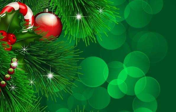 Картинка огни, праздник, игрушки, новый год, ель, вектор, шарик, декорации, happy new year, christmas decoration, новогодние …