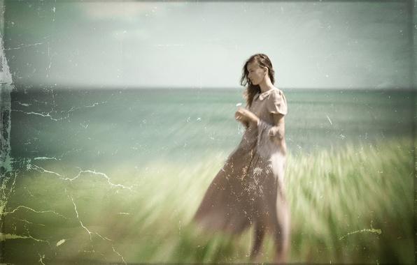 Картинка девушка, фон, текстура