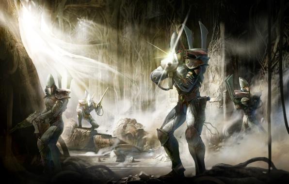 Картинка concept, капитан, wall, warhammer, отряд, эльдары, стражи, eldar, guards, зачистка, poster