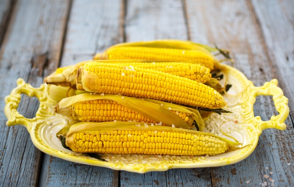 Картинка желтый, фон, widescreen, обои, еда, кукуруза, тарелка, wallpaper, злаки, широкоформатные, background, полноэкранные, HD wallpapers, широкоэкранные, …