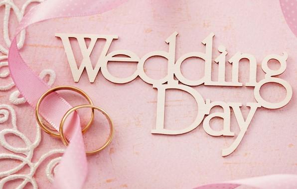 Картинка цветы, кольца, pink, свадьба, flowers, background, day, ring, soft, wedding, lace