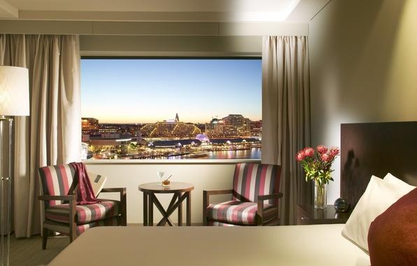 Картинка дизайн, стиль, комната, интерьер, отель, мегаполис, Crowne Plaza Lighting And Hotel