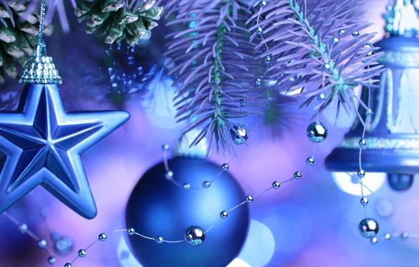 Картинка игрушки, звезда, елка, новый год, рождество, ветка, шарик