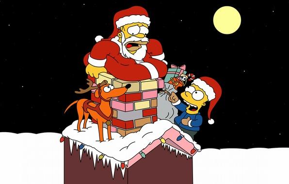 Картинка зима, усы, звезды, снег, ночь, настроение, праздник, обои, луна, новый год, рождество, ситуация, собака, олень, …