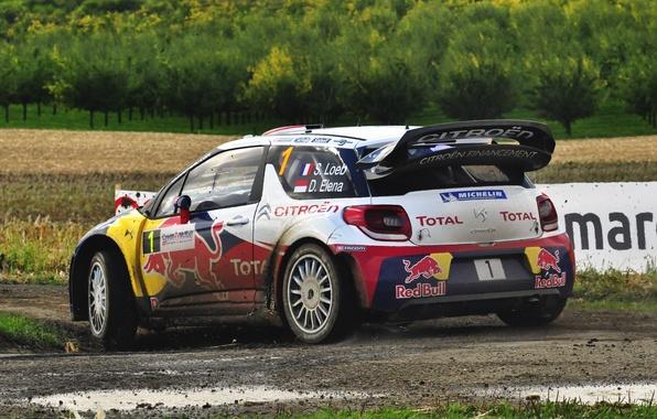 Картинка Авто, Спорт, Машина, Гонка, Ситроен, Грязь, Citroen, Red Bull, DS3, WRC, Rally