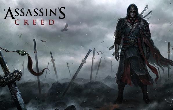 Картинка война, мечи, Assassins creed, ассасин, видеоигра, the Aftermath