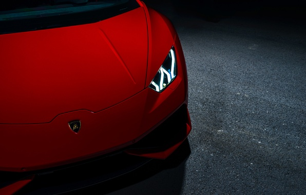 Картинка Lamborghini, Red, V10, Supercar, Exotic, Huracan, Ligth, LP640-4