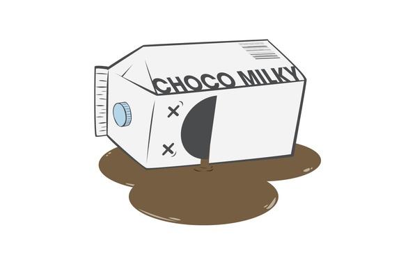 Картинка молоко, пакет, dead, шоколадное, умерло, Milk