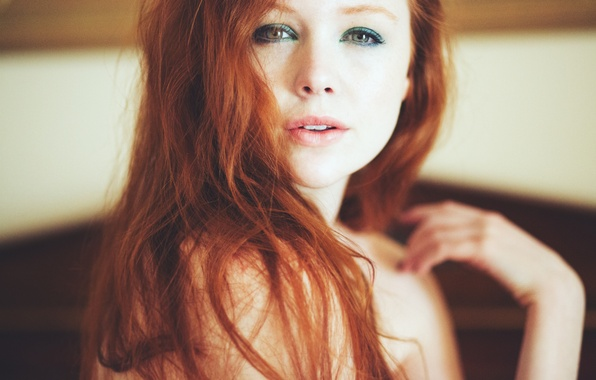 Картинка девушка, волосы, макияж, рыжая