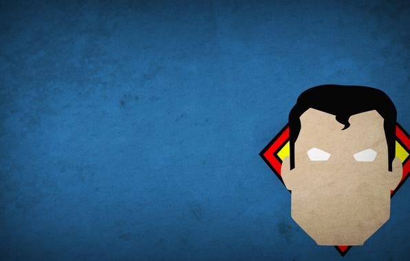 Картинка рисунок, минимализм, герой, superman, minimalism, 1920x1080, hero, picture
