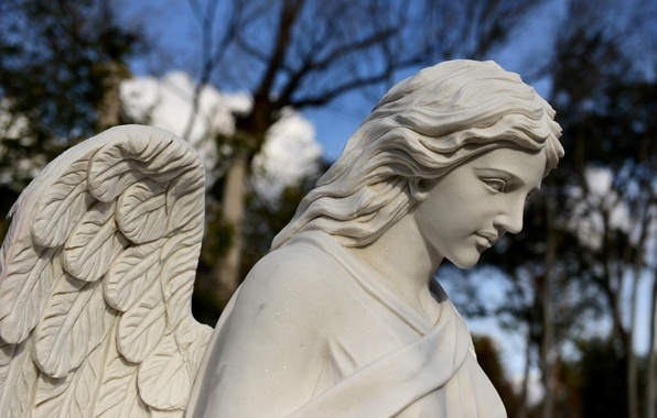 Картинка крылья, ангел, статуя, скульптура