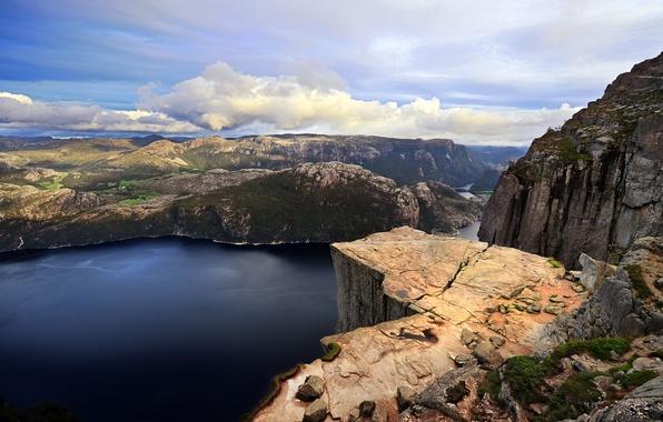 Картинка море, вода, деревья, горы, природа, озеро, фото, скалы, пейзажи, леса