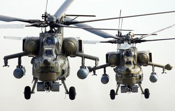 Картинка пара, вертолет, ми-28н