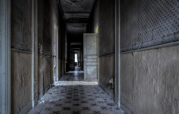Картинка стены, двери, коридор