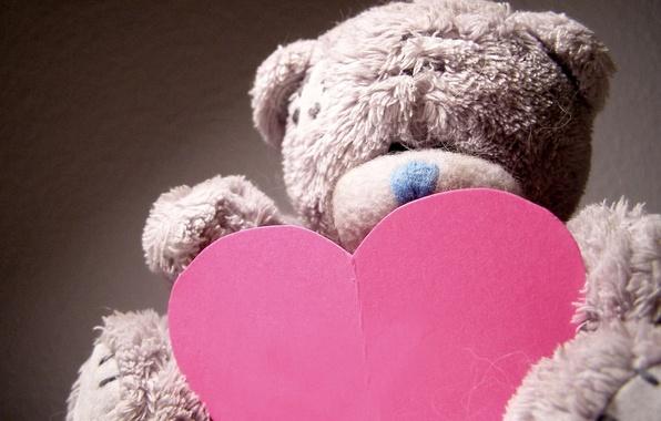 Картинка макро, настроение, праздник, подарок, игрушка, сердце, мишка, медвежонок, love, день валентина, плюшевый, сердечко, день влюбленных, …