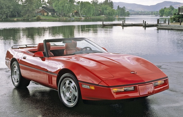 Картинка красный, Corvette, Chevrolet, auto, walls, корвет, Convertible