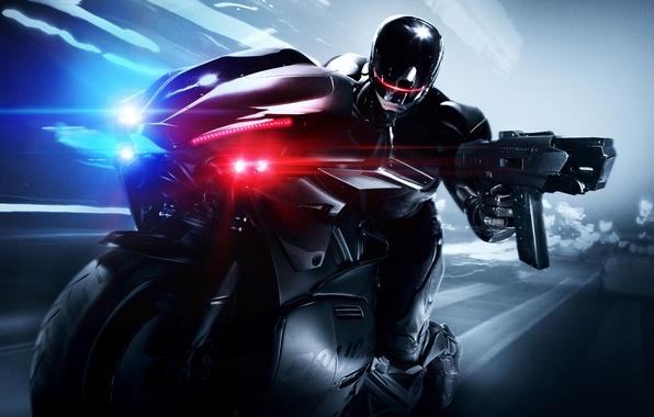 Картинка Bike, RoboCop, Movie, 2014, Joel Kinnaman, Cop, Robo