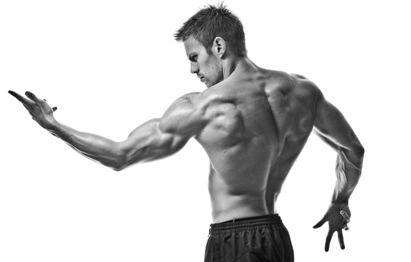 Картинка sport, muscles, black and white, pose, gym