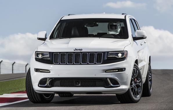 Картинка car, джип, front, SRT, Jeep, Grand Cherokee, мощный