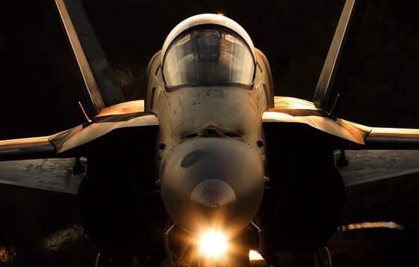 Картинка оружие, армия, самолёт, F-18A Hornet