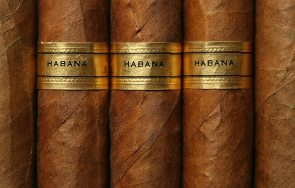 Картинка Brown, Gold label, cuban cigars