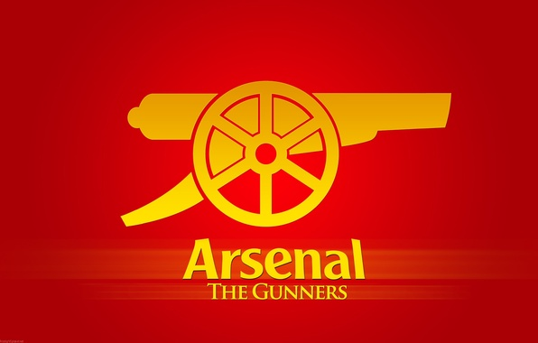 Картинка надпись, логотип, эмблема, пушка, Арсенал, Arsenal, Football Club, канониры, The Gunners, футбольный клуб