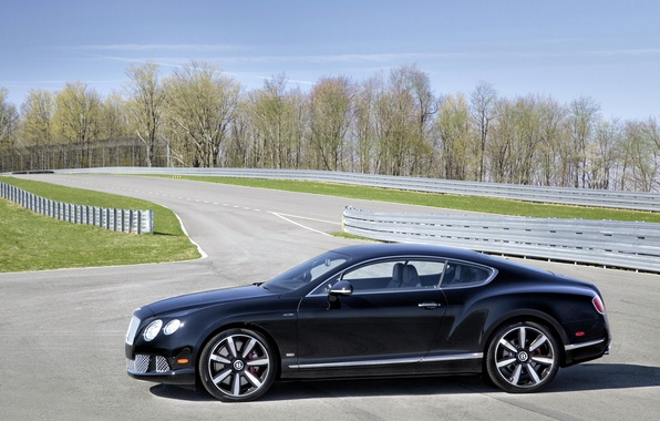 Картинка car, авто, Bentley, вид сбоку, track, Continental GT Speed, Le Mans Edition