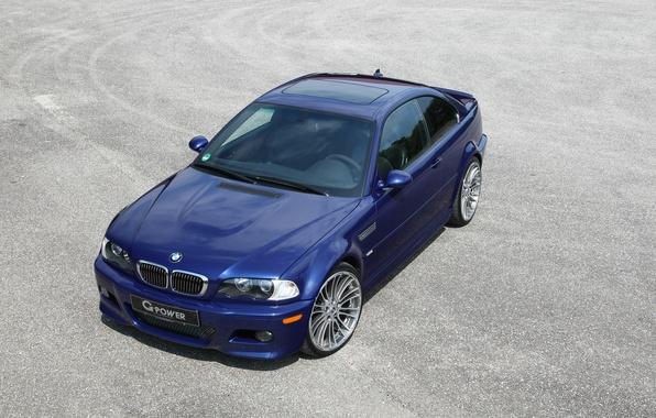 Картинка BMW, Машина, Синяя, БМВ, Обои, Car, G-Power, Coupe, Тачка, Бэха, E46, Купэ