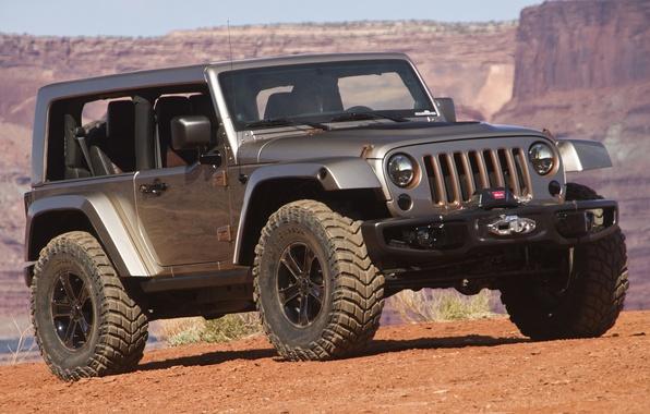 Картинка авто, Concept, внедорожник, Wrangler, Jeep, Flattop