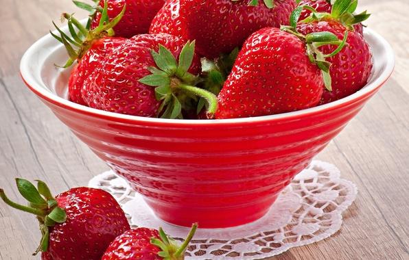 Картинка ягоды, клубника, миска, strawberry, fresh berries