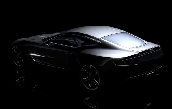Картинка Aston Martin, серебро, ONE 77