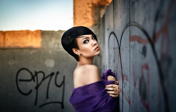 Картинка девушка, макияж, пирсинг, причёска, Александр Веселов, Grosh