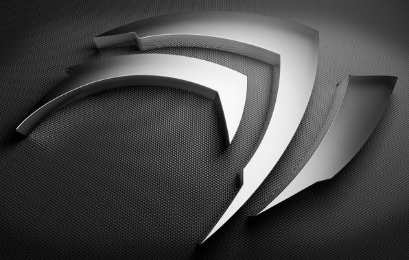 Картинка silver, logo, Nvidia