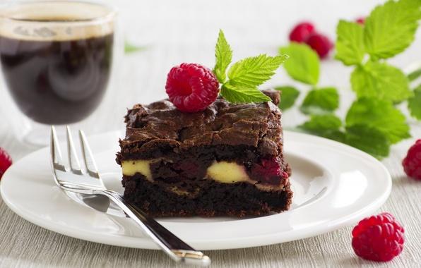 Картинка сладость, мята, выпечка, малинка, mint, шоколадный торт, chocolate cake, Malinka, sweet pastries