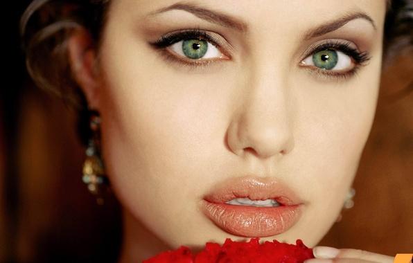 Картинка Девушка, Губы, Анджелина Джоли, Angelina Jolie, Girl, Глаза, Актриса, Beautiful, Wallpapers, Eyes, Красивая, Обоя, Actress, ...