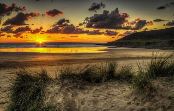 Картинка море, небо, солнце, пейзаж, закат, природа, океан, рассвет, beach, sky, ocean, landscape, nature, sunset, beautiful, …