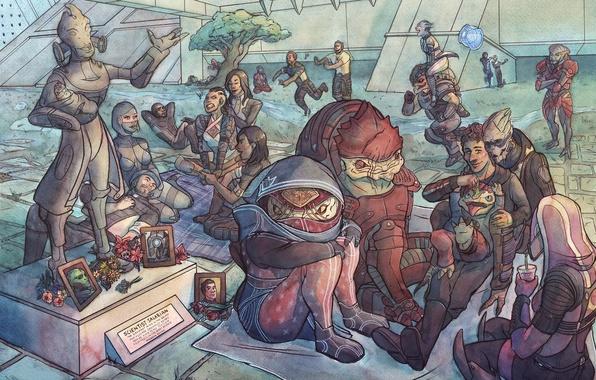 Картинка Miranda Lawson, shepard, Mass Effect, Eve, Ashley Williams, Jack, Samara, Liara T'Soni, Tali'Zorah, Urdnot Wrex, …