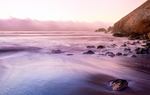 Картинка море, небо, вода, природа, галька, скала, камни, океан, скалы, стихия, обои, берег, побережье, пейзажи, камень, …