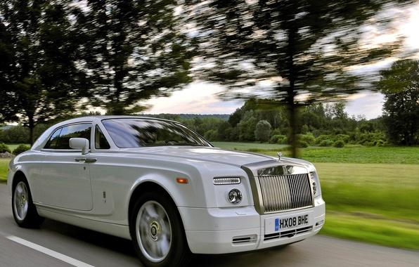 Картинка фары, Rolls-Royce, решетка, эмблема, лимузин, ролс ройс, супе